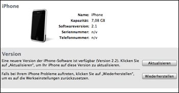 iPhone Update 2.2