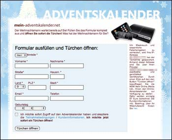 Adventskalender-Spam