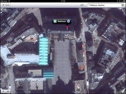 Apple Maps: Aachen per Satellit