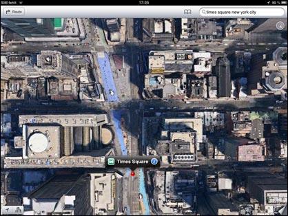 Apple Maps: New York per Satellit
