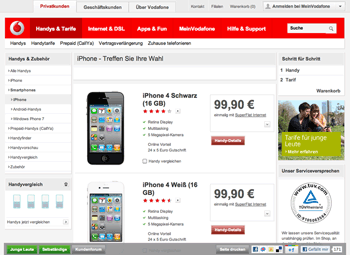 VodaFone: iPhone 4S