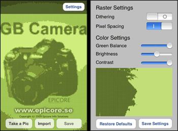 iPhone: Gameboy Kamera Fotos