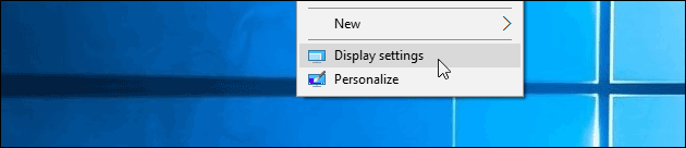 Windows display rotation
