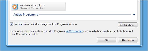 Dateityp Programmzuordnung
