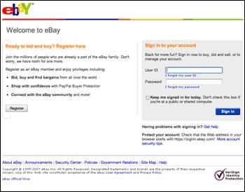 ebay phishing seite
