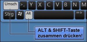 Tastatur Umstellen Englische Tastatur Amerikanische Tastatur Auf