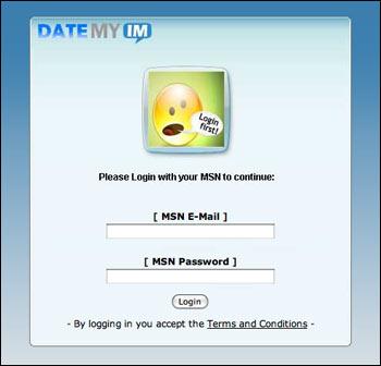 MSN Spam: Date My IM