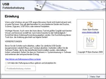 USB Fehlerbehebung / Probleme lösen
