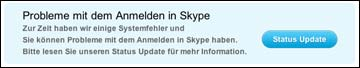 Skype Fehlermeldung