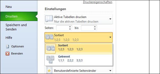 Excel: schneller drucken