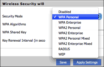 WLAN security: WEP, WPA, WPA2