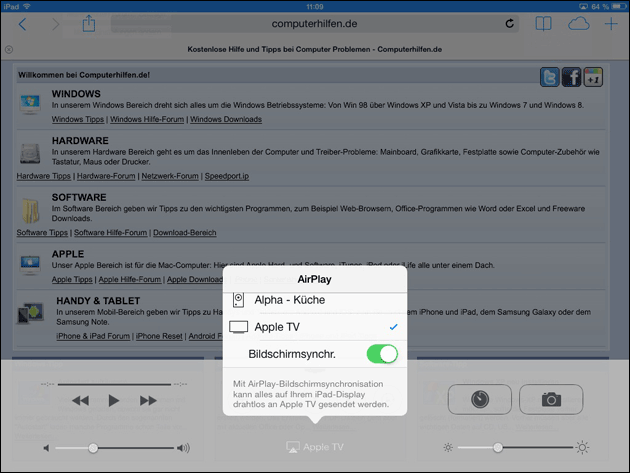 how to use airplay on ipad to computer