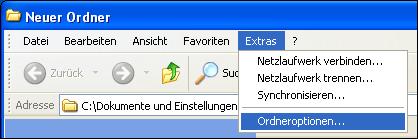 Versteckte Dateien bei Win XP
