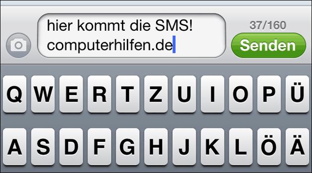 SMS Zeichen Anzahl