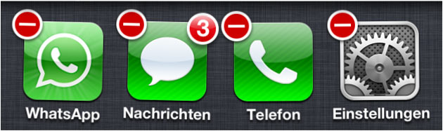 WhatsApp beenden