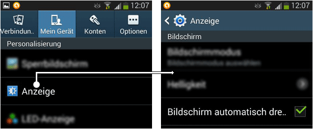 Android Video Drehen