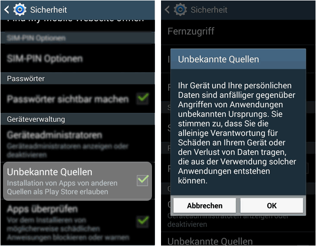 android apps installieren