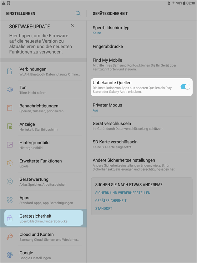 Android Alte App Version Installieren