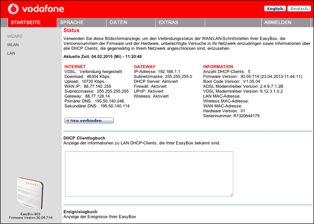 Vodafone easy.box: So kommt man zur IP