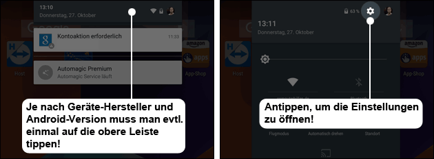 Android 5 Einstellungen öffnen