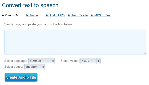 Text to Speech Generator