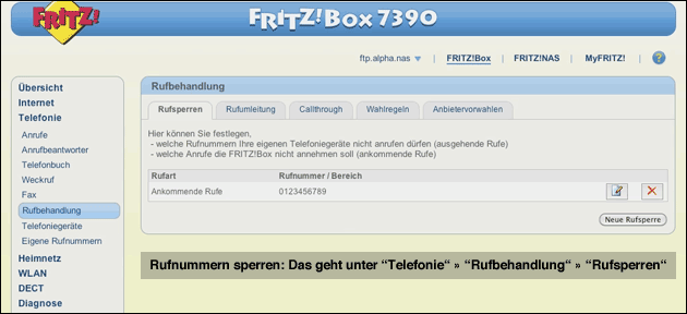 Fritzbox: Anrufer sperren - so geht's!