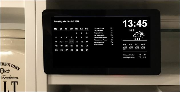 FHEM Display für Smart Mirror