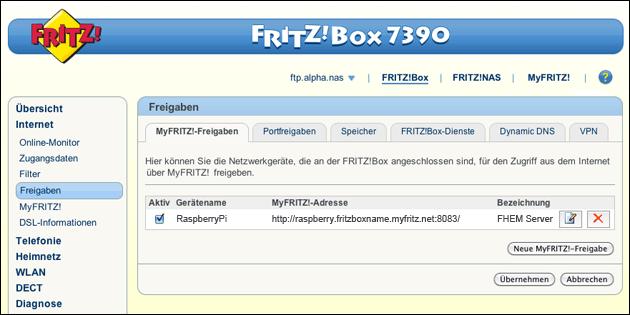 Fritzbox Port-Freigabe