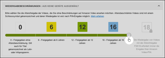 Amazon Kindersicherung einstellen