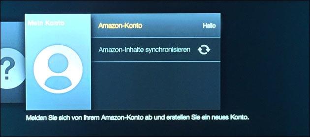 Amazon Konto synchronisieren