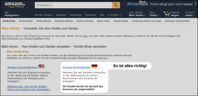 Amazon Prime übertragen