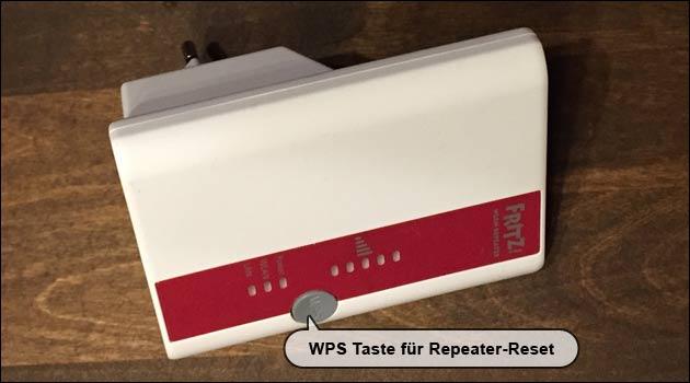 AVM Fritz Repeater Reset