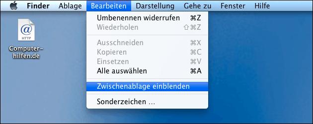 Mac Zwischenablage