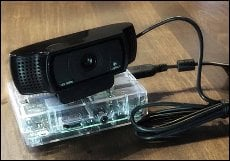 Raspberry Pi mit Logitech Webcam