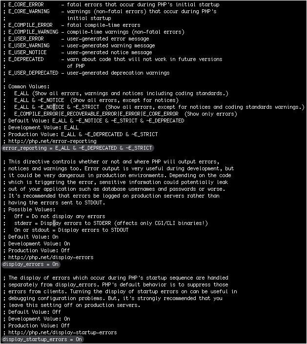PHP: display errors - Fehler anzeigen