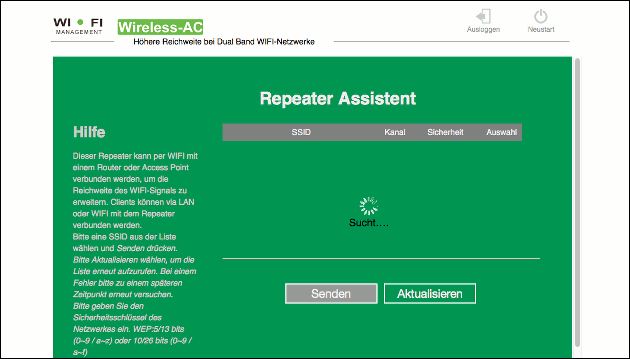 WLAN Repeater-Modus