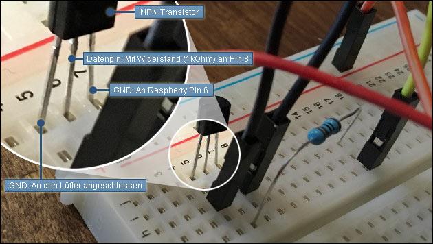 Lüfter mit Transistor steuern