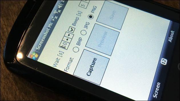 Screenshot mit Windows Mobile