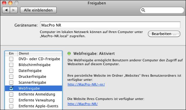 Mac: Apache PHP Server: Hier sind die Dateien!