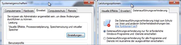 CPU unterstützt NX?