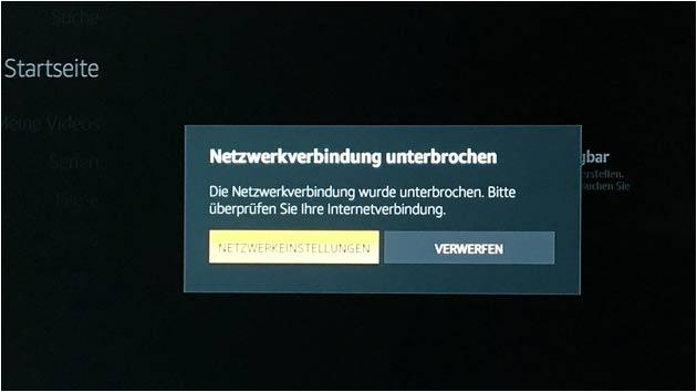 Amazon Fire-TV: Netzwerkverbindung unterbrochen