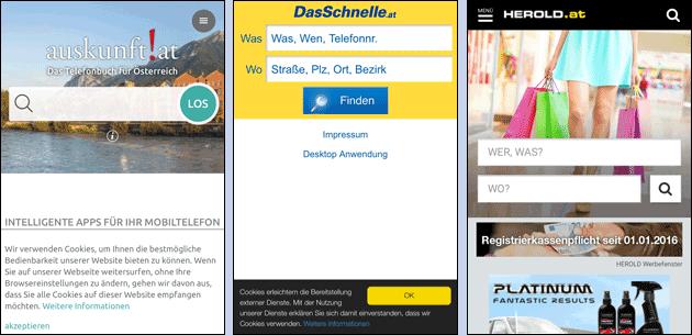 Telefonnummer suchen in Österreich
