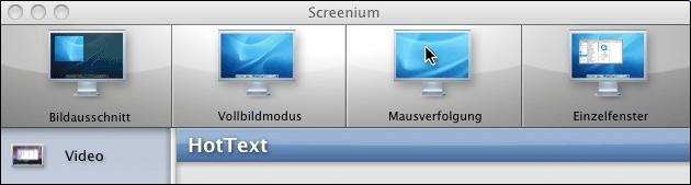 Bildschirm Aufnahme Screenium