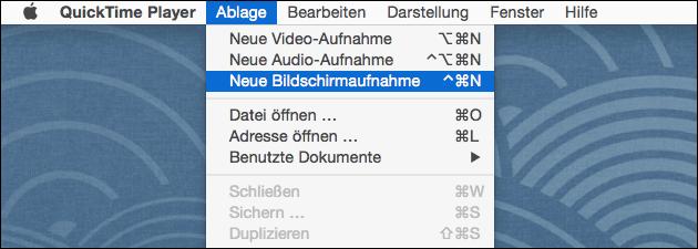 Bildschirm-Video aufnehmen am Mac