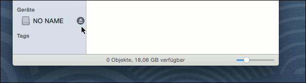 Laufwerk auswerfen am Mac