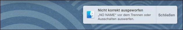 SD Karte / USB Stick am Mac auswerfen