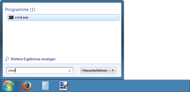 Eingabeaufforderung Windows 7