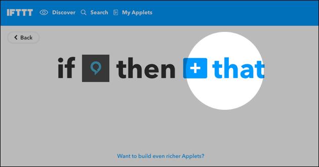 IFTTT mit Alexa und FHEM verbinden
