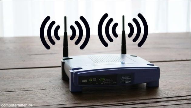 WLAN Router Antenne ausrichten