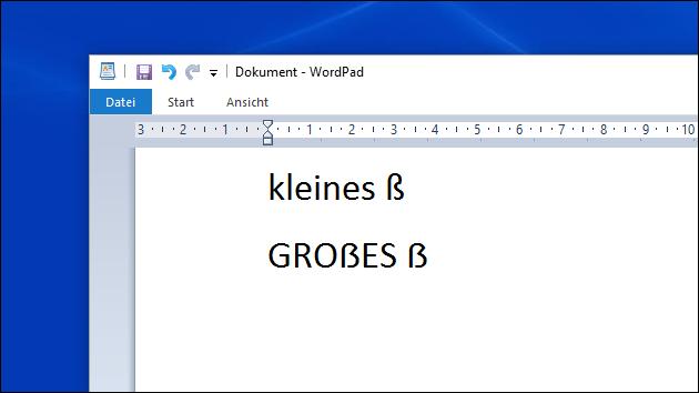 Großes ß
